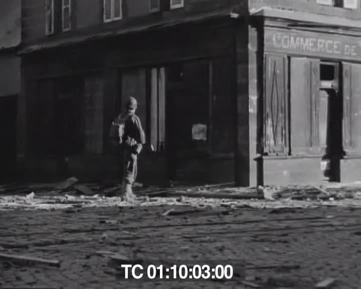 US troops in Brest, assault on Brest, France